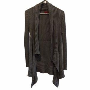 Merona grey open cardigan women's sweater large